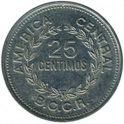 Moneta > 25sentimai, 1967-1978 - Kosta Rika  - reverse