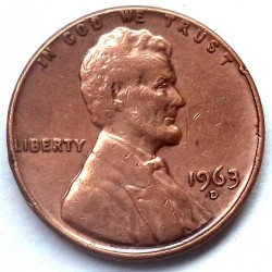 Coin > 1 cent, 1963 - USA  - obverse