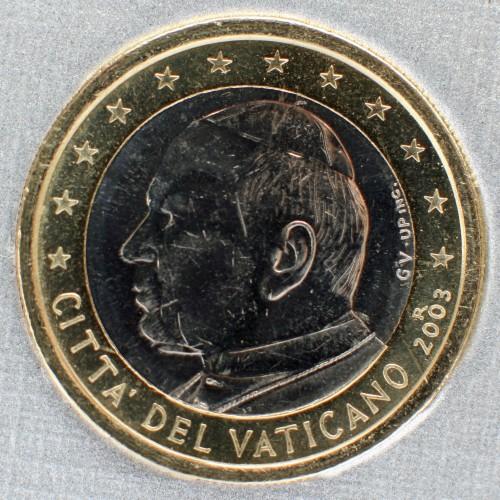 1 Euro 2002 2005 Vatikanstadt Münzen Wert Ucoinnet