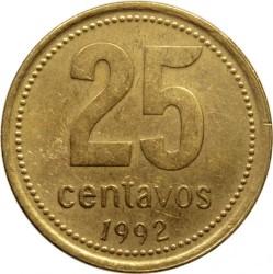 Moneda > 25centavos, 1992-2010 - Argentina  - reverse