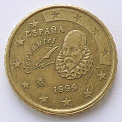 Coin > 10 cents, 1999 - Spain  - reverse