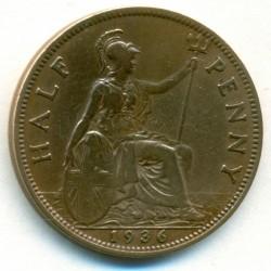 Moeda > ½pence, 1936 - Reino Unido  - reverse