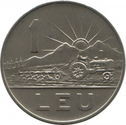 Moneta > 1leu, 1963 - Romania  - reverse