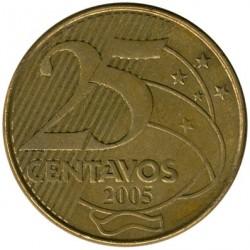 Moneda > 25centavos, 1998-2019 - Brasil  - reverse