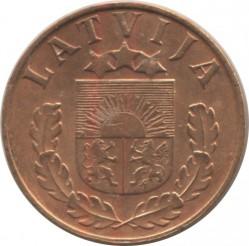 מטבע > 1סנטים, 1937-1939 - לטביה  - obverse