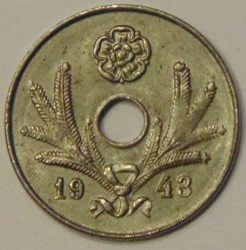 Münze > 10Penny, 1943 - Finnland  (Iron /grey color/) - reverse