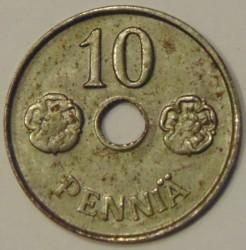 Münze > 10Penny, 1943 - Finnland  (Iron /grey color/, 1.12g, 16mm) - reverse