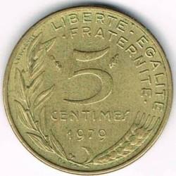 Moneda > 5centimes, 1966-2001 - França  - reverse