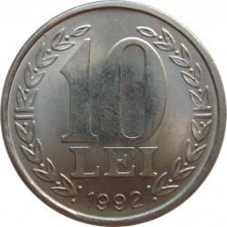 Moneda > 10lei, 1990-1992 - Romania  - reverse