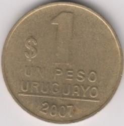 Monedă > 1peso, 1998-2007 - Uruguay  - reverse