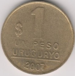 Moneda > 1peso, 1998-2007 - Uruguay  - reverse