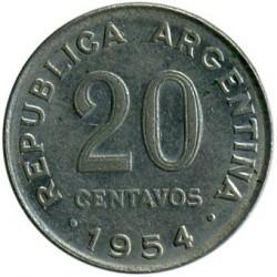 Moneta > 20sentavų, 1954-1956 - Argentina  - reverse