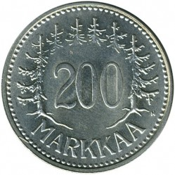 Moneta > 200markių, 1956-1959 - Suomija  - obverse