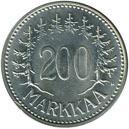 200 Mark 1956 1959 Finnland Münzen Wert Ucoinnet