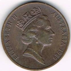 سکه > 2سنت, 1985-1991 - استرالیا  - obverse