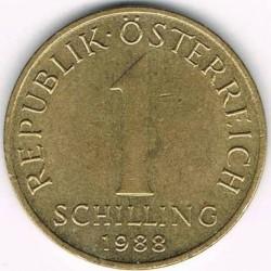 Монета > 1шиллинг, 1959-2001 - Австрия  - obverse