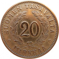 Münze > 20Mark, 1938 - Finnland  - reverse