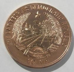 Moneta > 10kipów, 1988 - Laos  (Miedź /brązowy kolor/) - obverse