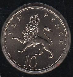 Munt > 10pence, 1982-1984 - Verenigd Koninkrijk  - reverse