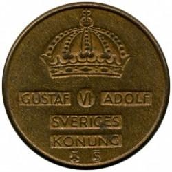Pièce > 1ore, 1952-1971 - Suède  - obverse