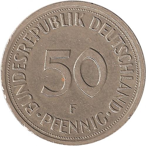 50 Pfennig 1972 2001 Deutschland Münzen Wert Ucoinnet