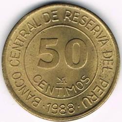 Монета > 50сентимос, 1985-1988 - Перу  - reverse