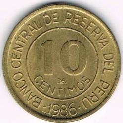 Монета > 10сентимос, 1985-1987 - Перу  - reverse