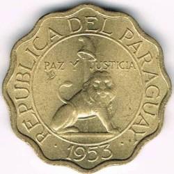 Minca > 15centimos, 1953 - Paraguaj  - obverse