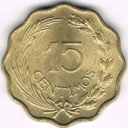 Кованица > 15центи, 1953 - Парагвај  - reverse