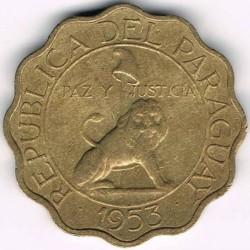 سکه > 50سنتیمو, 1953 - پاراگوئه  - obverse