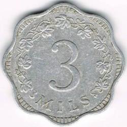 Monedă > 3mili, 1972-2006 - Malta  - reverse