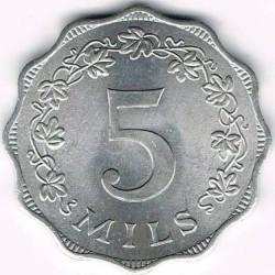 Pièce > 5mils, 1972-2007 - Malte  - reverse
