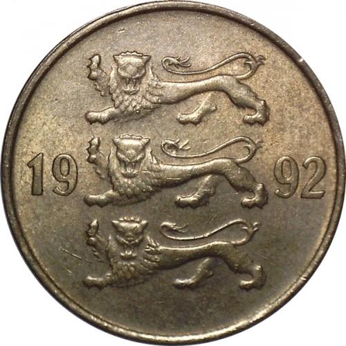Стоимость монеты 20 senti eesti vabariik 1992 новые купюры доллара