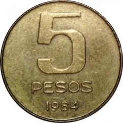 Кованица > 5пезоа, 1984-1985 - Аргентина  - reverse