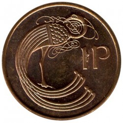 Moneta > 1pens, 1988-2000 - Irlandia  - obverse