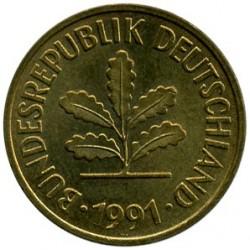 Münze > 5Pfennig, 1991 - Deutschland  - obverse