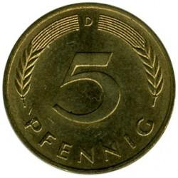 Münze > 5Pfennig, 1991 - Deutschland  - reverse