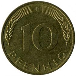 Moneda > 10peniques, 1990 - Alemania  - reverse