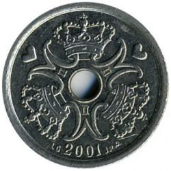 Монета > 1крона, 2001 - Дания  - obverse