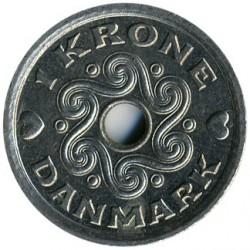 Монета > 1крона, 2001 - Дания  - reverse