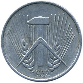 1 Pfennig 1952 1953 Deutschland Ddr Münzen Wert Ucoinnet