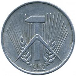 Moneta > 1pfennig, 1952-1953 - Germania - GDR  - obverse