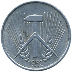 Moneta > 1pfennig, 1952-1953 - Germania - GDR  - reverse
