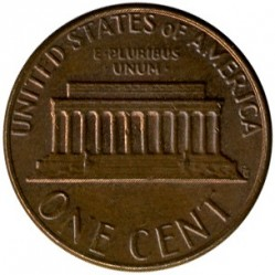 Minca > 1 cent, 1959-1982 - USA  (Lincoln Cent) - reverse