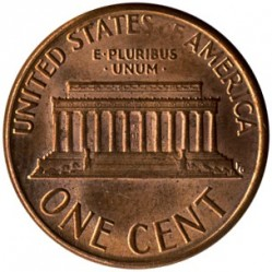 Coin > 1 cent, 1988 - USA  - reverse