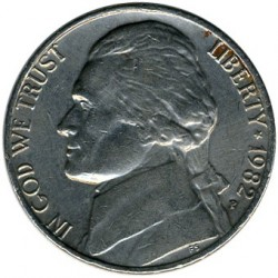 Moneda > 5 centavos, 1946-2003 - Estados Unidos  (Jefferson Nickel) - obverse