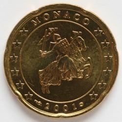 Monēta > 20centu, 2001-2004 - Monako  - obverse