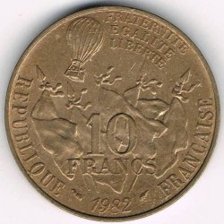 سکه > 10 فرانک, 1982 - فرانسه  (100th Anniversary - Death of Leon Gambetta) - obverse