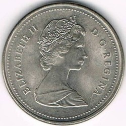 Coin > 5cents, 1982-1989 - Canada  - reverse