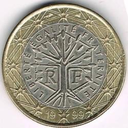 מטבע > 1אירו, 1999-2006 - צרפת  - obverse